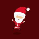 Projeto do ícone do caráter de Papai Noel ilustração stock