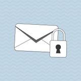 Projeto do ícone do envelope, ilustração do vetor Foto de Stock