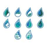 Projeto do ícone do logotipo da água fotografia de stock