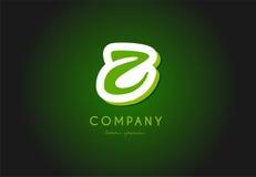 Projeto do ícone do vetor da empresa do verde 3d do logotipo da letra do alfabeto de Z Foto de Stock