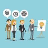 Projeto do ícone dos empresários Fotos de Stock Royalty Free
