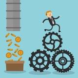 Projeto do ícone dos empresários Fotografia de Stock