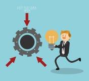 Projeto do ícone dos empresários Foto de Stock Royalty Free