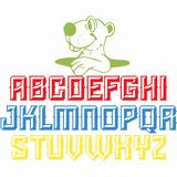 Projeto do alfabeto para todas as crianças da escola ilustração stock