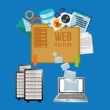 Projeto do alojamento web ilustração stock