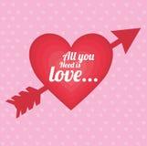 Projeto do amor Imagem de Stock