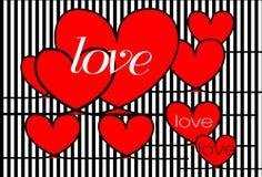 Projeto do amor do cartão Foto de Stock Royalty Free
