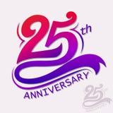 Projeto do aniversário, sinal da celebração do molde Imagem de Stock