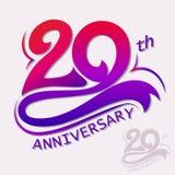 Projeto do aniversário, sinal da celebração do molde Fotos de Stock Royalty Free