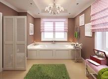Projeto do art deco do banheiro das crianças Foto de Stock Royalty Free
