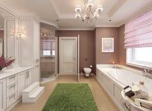 Projeto do art deco do banheiro das crianças Fotos de Stock Royalty Free