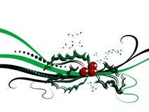 Projeto do azevinho do Natal ilustração do vetor