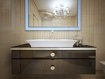 Projeto do banheiro de Art Deco Imagem de Stock