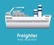 Projeto do barco ilustração stock