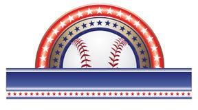 Projeto do basebol com estrelas Imagens de Stock Royalty Free