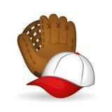 Projeto do basebol, esporte e ilustração das fontes Fotos de Stock Royalty Free