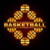 Projeto 3 do basquetebol Fotos de Stock Royalty Free