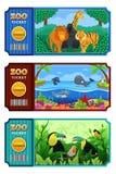 Projeto do bilhete do jardim zoológico Fotos de Stock Royalty Free