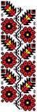 Projeto do bordado da flor ilustração royalty free