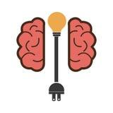 Projeto do cérebro ilustração stock