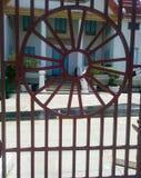 Projeto do círculo da cerca do ferro forjado Foto de Stock