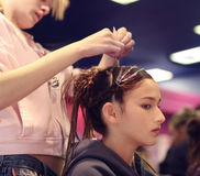 Projeto do cabelo fotografia de stock