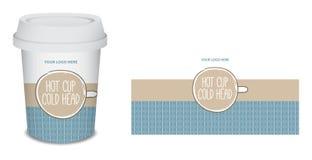 Projeto do café do copo de papel/caneca no vetor Imagens de Stock