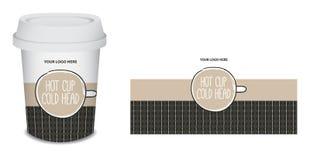 Projeto do café do copo de papel/caneca no vetor Fotos de Stock
