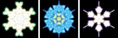 Projeto do caleidoscópio como o cristal da neve Foto de Stock Royalty Free