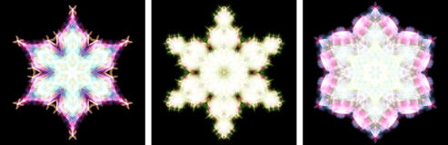 Projeto do caleidoscópio como o cristal da neve Imagens de Stock