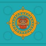 Projeto do calendário do Maya ilustração stock
