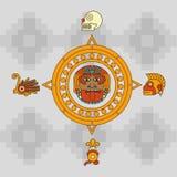 Projeto do calendário do Maya ilustração do vetor