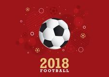 Projeto 2018 do campeonato do futebol Imagem de Stock Royalty Free
