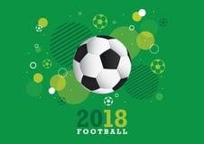 Projeto 2018 do campeonato do futebol Foto de Stock Royalty Free