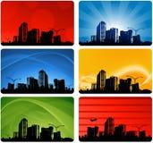 Projeto do cartão da cidade Fotografia de Stock