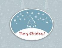Projeto do cartão do Feliz Natal ilustração stock