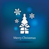 Projeto do cartão do Natal do vetor Imagens de Stock Royalty Free