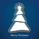 Projeto do cartão do Natal do vetor com fundo das calças de brim da sarja de Nimes Imagem de Stock