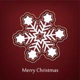Projeto do cartão do Natal do vetor com fundo das calças de brim da sarja de Nimes Foto de Stock Royalty Free