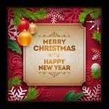 Projeto do cartão do Natal Imagens de Stock