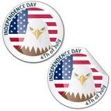 Projeto do cartão ou da etiqueta do Dia da Independência do vetor Fotografia de Stock