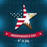 Projeto do cartão ou da etiqueta do Dia da Independência do vetor Fotos de Stock