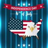 Projeto do cartão ou da etiqueta do Dia da Independência do vetor Foto de Stock
