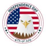 Projeto do cartão ou da etiqueta do Dia da Independência do vetor Imagem de Stock