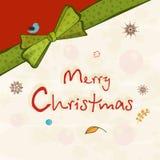 Projeto do cartaz da celebração do Feliz Natal Imagens de Stock Royalty Free