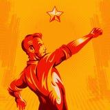 Projeto do cartaz da revolução do punho do protesto ilustração do vetor