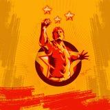 Projeto do cartaz da revolução do punho do protesto ilustração royalty free