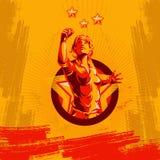 Projeto do cartaz da revolução do punho do protesto das mulheres ilustração royalty free