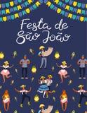 Projeto do cartaz de Festa Junina ilustração royalty free