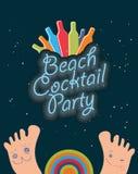 Projeto do cartaz do cocktail Imagens de Stock Royalty Free